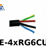 Kabel Koncentryczny 4 in 1 GT-SAT 1.13CU 120dB RE-4xRG6CUB 1m