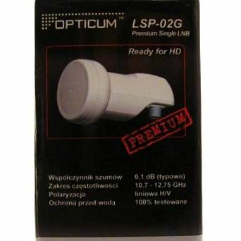 LNB single OPTICUM LSP-02G Premium 0,1dB