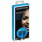 CLICKTRONIC kabel HDMI™ A High Speed Full HD/4K/3D TV 2m